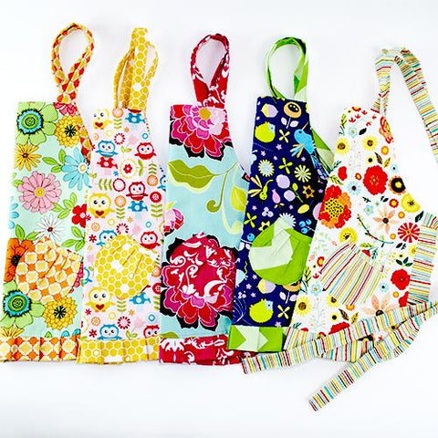 Image of Cute Rainbow of Flowers Kids Apron - Cece & Me - Home and Gifts