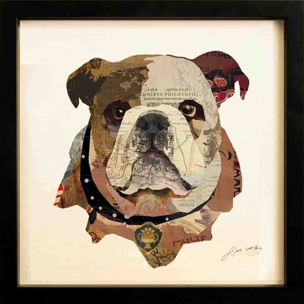 English Bulldog Pup ~ Art Collage - Cece & Me - Home and Gifts
