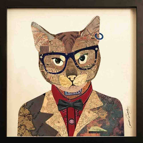 Image of Funky Cat II ~ Art Collage - Cece & Me - Home and Gifts