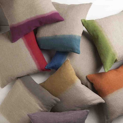 Image of Dip Dyed Pillow ~ Taupe - Cece & Me - Home and Gifts