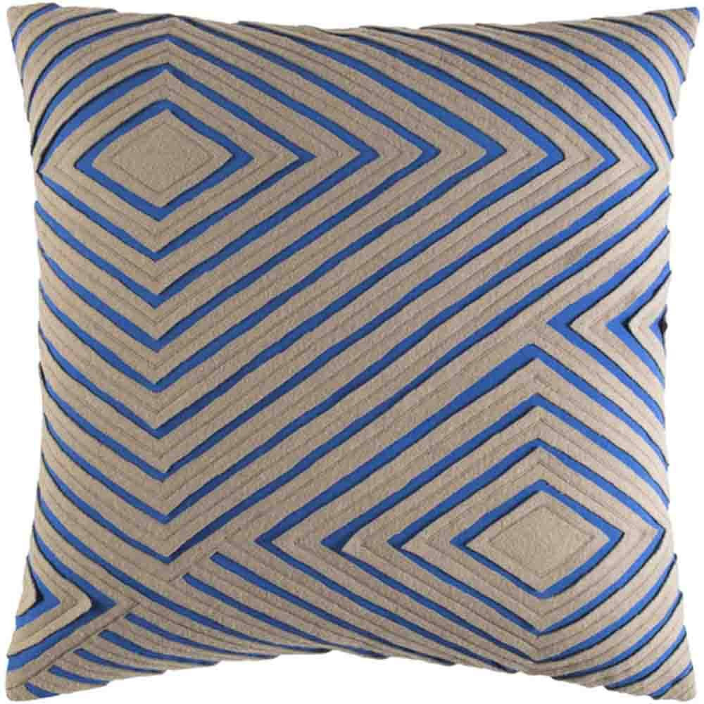 Denmark Pillow ~ Blue & Beige - Cece & Me - Home and Gifts