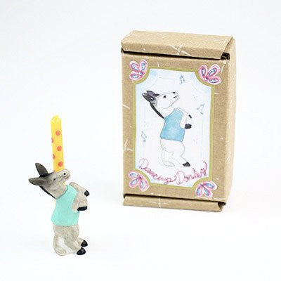 Image of Fun Circus Porcelain Candle Holder - Dancing Donkey - Cece & Me - Home and Gifts