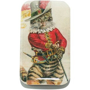 Dapper Cat Tin, Pill Box, Treasure box, Pill Box, Treasure Box, Jewelry box, Card Case - Large - Cece & Me - Home and Gifts