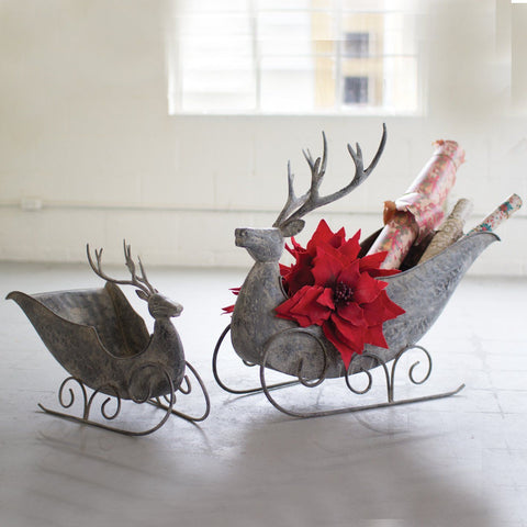 Deer Sleighs (Set of 2) - Cece & Me - Home and Gifts