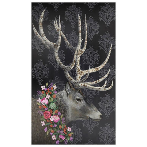 Image of Deer With Floral Wreath Wall Art - Cece & Me - Home and Gifts