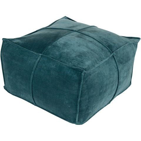 Delaney Velvet Pouf ~ Teal - Cece & Me - Home and Gifts
