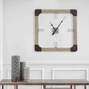 Delta I Oversized Square Clock