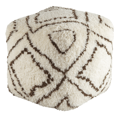 Image of Denali Pouf ~ Dark Brown & Khaki - Cece & Me - Home and Gifts