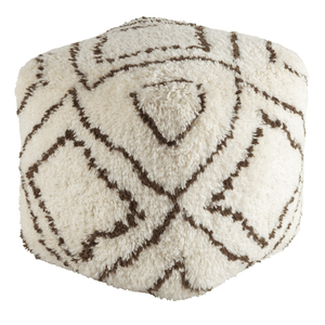 Denali Pouf ~ Dark Brown & Khaki - Cece & Me - Home and Gifts