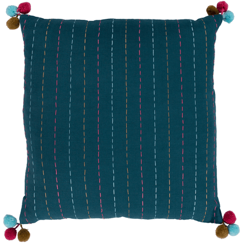 Dhaka Pillow ~ Teal - Cece & Me - Home and Gifts