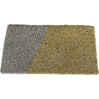 Diagonal Block Wristlet Clutch ~ Grey & Gold - Cece & Me - Home and Gifts - 1