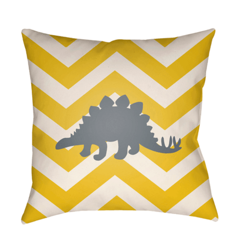 Dinosaur Pillow ~ Yellow - Cece & Me - Home and Gifts