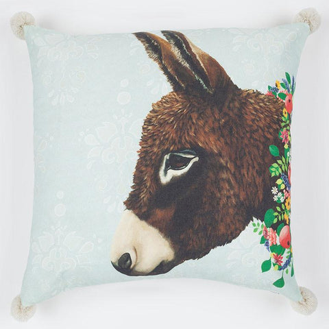 Image of Donkey Next Door Pillow - Cece & Me - Home and Gifts