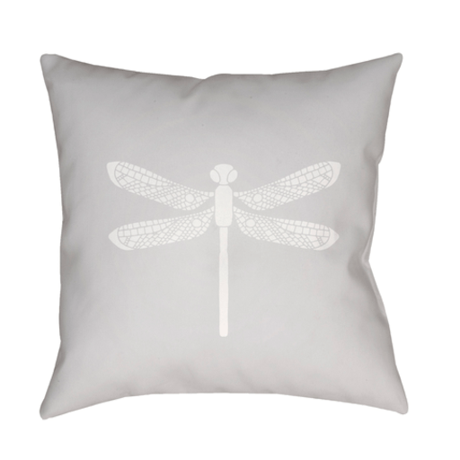 Dragonfly Pillow ~ Gray - Cece & Me - Home and Gifts