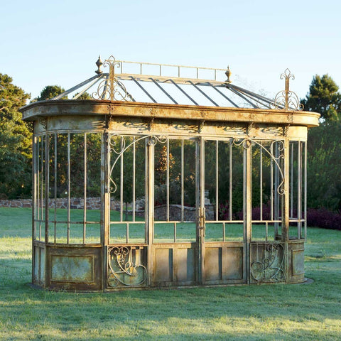 Image of Aged Metal Conservatory Facade Framework - Cece & Me - Home and Gifts