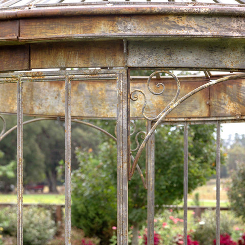 Image of Aged Metal Gazebo - Cece & Me - Home and Gifts