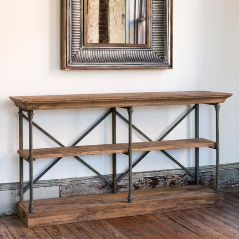 Double X Old Elm Console - Cece & Me - Home and Gifts