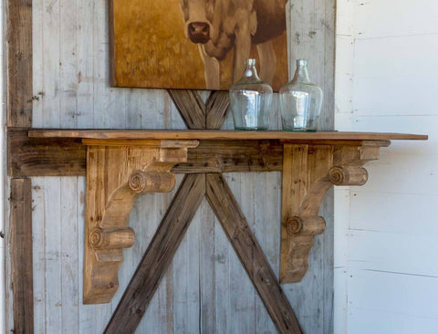 Wooden Bracket Console - Cece & Me - Home and Gifts