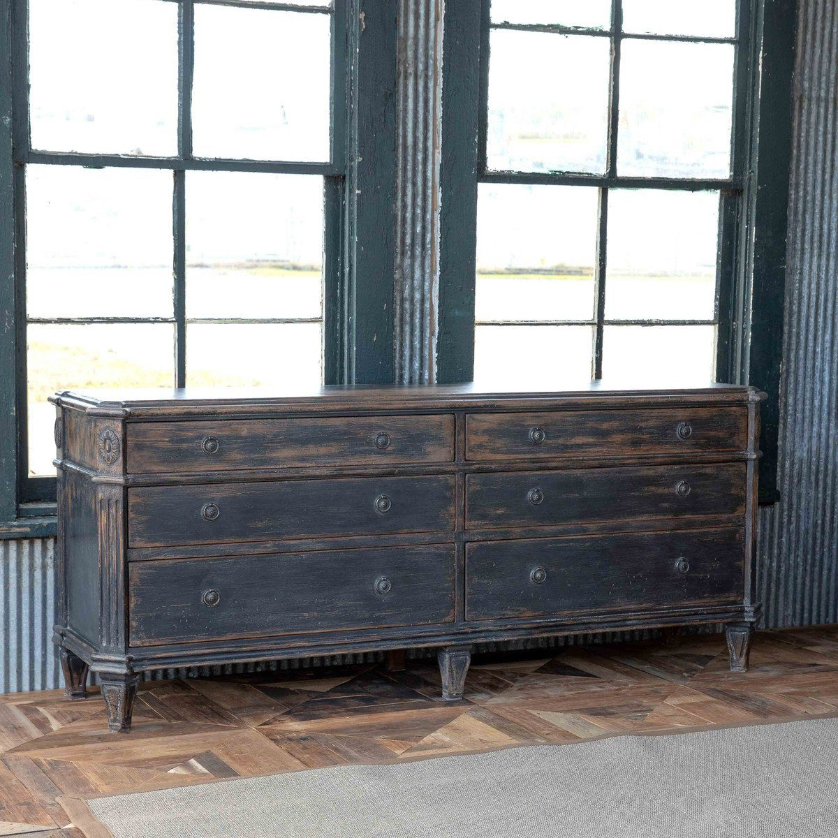 Painted Black Credenza