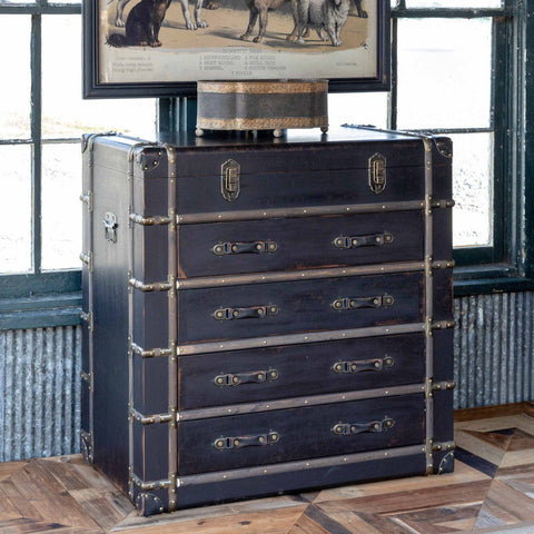 Image of Traveler's Trunk with Drawers - Cece & Me - Home and Gifts