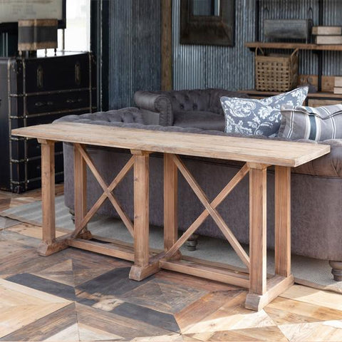Bridges Reclaimed Oak and Pine Sofa Console - Cece & Me - Home and Gifts