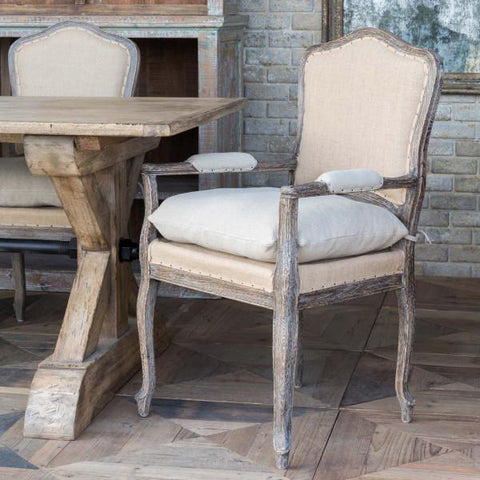 Weathered Oak Arm Chair Set of Two - Cece & Me - Home and Gifts
