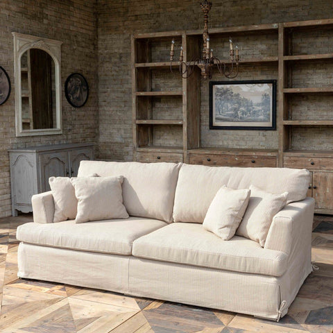 Tobacco Henry Slip Covered Sofa - Cece & Me - Home and Gifts