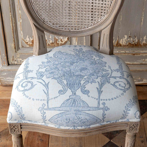 French Blue Bouquet Cane Back Dining Chair Set of Two - Cece & Me - Home and Gifts