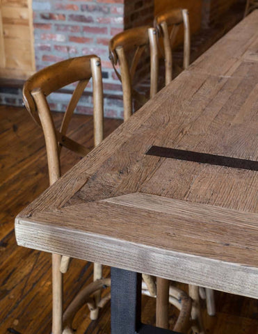 Reclaimed Oak Gathering Table - Cece & Me - Home and Gifts
