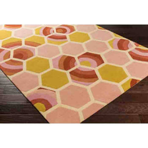 Kismet Rug ~ Coral/Lime - Cece & Me - Home and Gifts