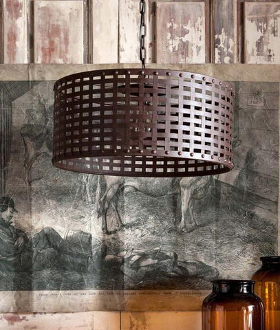 Image of Woven Metal Light Fixture - Cece & Me - Home and Gifts