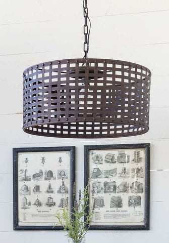 Woven Metal Light Fixture - Cece & Me - Home and Gifts