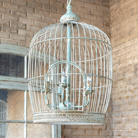 Image of Vintage-Style Birdcage Chandelier - Cece & Me - Home and Gifts