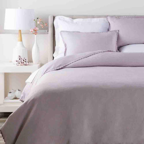 Evelyn Linen Duvet ~ Lilac - Cece & Me - Home and Gifts