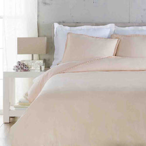 Evelyn Linen Duvet ~ Peach - Cece & Me - Home and Gifts