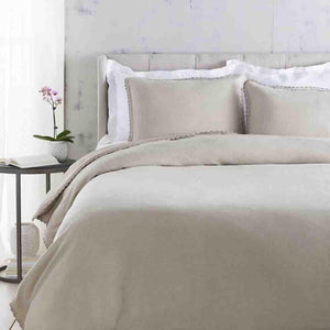 Evelyn Linen Duvet ~ Light Gray - Cece & Me - Home and Gifts