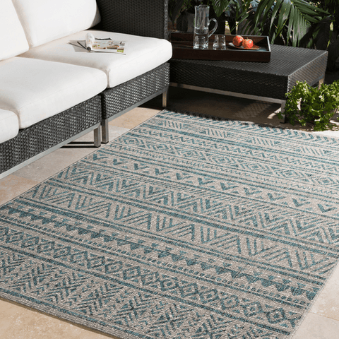 Image of Eagean Rug ~ Aqua - Cece & Me - Home and Gifts
