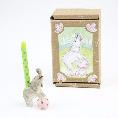 Image of Fun Circus Porcelain Candle Holder - Elephant - Cece & Me - Home and Gifts