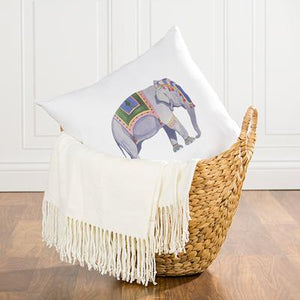 "Elephant Throw Pillow 16"" - Cece & Me - Home and Gifts"