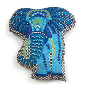 Cutest Embroidered Elephant Pillow - Cece & Me - Home and Gifts