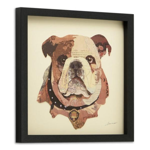 Image of English Bulldog Pup ~ Art Collage - Cece & Me - Home and Gifts