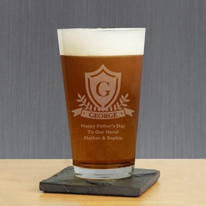 Engraved Crest Glass - Cece & Me - Home and Gifts