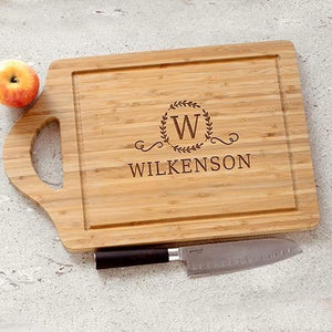 Engraved Large Family Cutting Board - Cece & Me - Home and Gifts