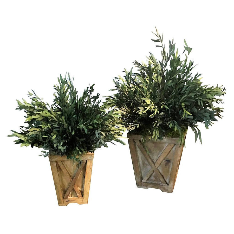 (Set of 2) Eucalyptus Reclaimed Wood Town & Country Planters - Cece & Me - Home and Gifts