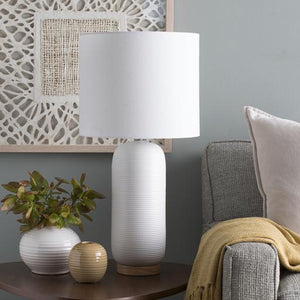 Everly Table Lamp ~ White