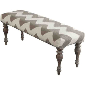 Frontier Ottoman ~ Light Gray - Cece & Me - Home and Gifts