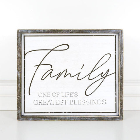 Family One Of Life's Greatest Blessings Wood-Framed Sign - Cece & Me - Home and Gifts