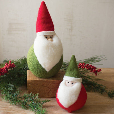 Fat Felt Santas (Set of 2) - Cece & Me - Home and Gifts