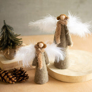 Felt Angels With Feather Wings (Set of 2) - Cece & Me - Home and Gifts