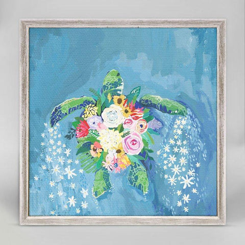 Flora And Sea - Turtle Mini Framed Canvas - Cece & Me - Home and Gifts